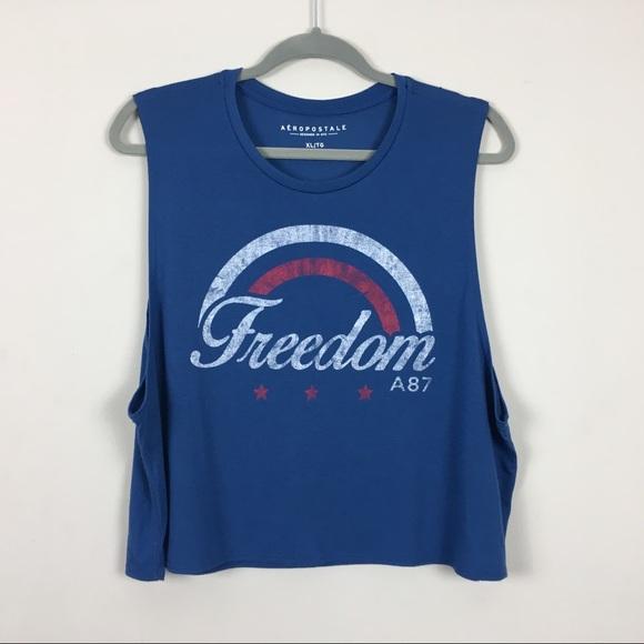 Aeropostale Tops - Aeropostale muscle tee freedom blue EUC